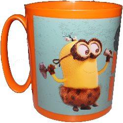 "Mug / Gobelet avec poignet / tasse CRO-MINIONS ""Minions, Moi Moche et Méchant""  Micro-onde (2 min maxi.) 350ML (sans BPA) Orange"