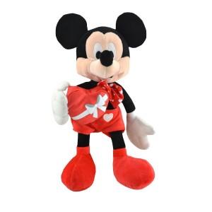 Peluche Minnie rouge coeur 30 cm