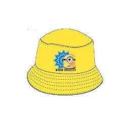 """Bob MINIONS """"Moi moche et méchant"""" 100% Coton - Chapeau/Protection - NEUF - Jaune"""