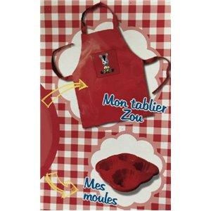 Tablier de cuisine ZOU + Moules silicone - NEUF - Ensemble Cuisine Enfant