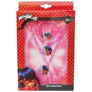 Disney- Ladybug Coffret Set Bijoux, KE8384