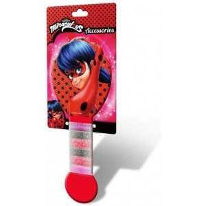MIRACULOUS Ladybug - Brosse  à  Cheveux + 6   Élastiques