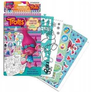 Trolls - Jeux Créatifs, Des Pochoirs Et Des Autocollants - Stickers/Dessins/Pochoirs