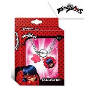 MIRACULOUS Ladybug - Bracelet avec Pendentif : Bijoux Fantaisie