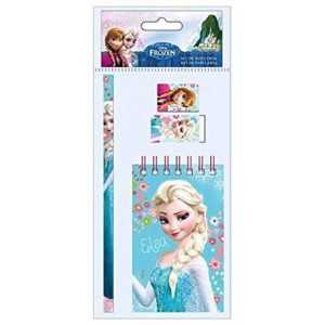 SET PAPTERIE REINE DES NEIGES FROZEN 4 PCS SCOLAIRE DISNEY