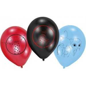 Paquet 6 Ballons MIRACULOUS Ladybug 22,8cm - NEUF - Anniversaire/fête