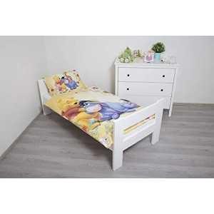 WINNIE L'Ourson DISNEY - Parure de lit  Réversible 100 x 135 cm & Taie d'oreiller 40 x 60 cm 100% Coton - NEUF