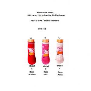 Chaussette Soquette PEPPA PIG - NEUF - Fille/Accessoire/Vêtement - Du 23 au 34 Rose Clair