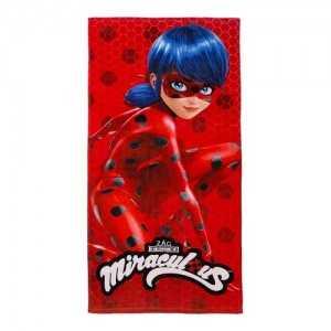 Serviette de Plage MIRACULOUS Ladybug 70x140cm 100% Coton - NEUF