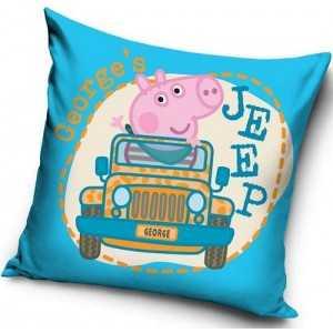 "PEPPA PIG ""GEORGES"" : Housse de Coussin / Taie d'oreiller 40x40cm -  NEUF"
