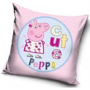PEPPA PIG Cute : Housse de Coussin / Taie d'oreiller 40x40cm -  NEUF