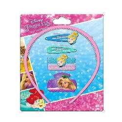 Accessoires cheveux - PRINCESSES Disney (Cendrillon/Raiponce) 6 pièces - NEUF - Barrettes Fille