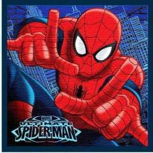 Serviette à mains/toilette/de table Magique SPIDER-MAN Marvel 30x30cm 100% Coton - NEUF