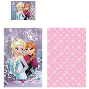 Frozen Anna Elsa Cartoon Set lit 140 x 90 cm couette 100% coton original Snow Queen Baby Disney