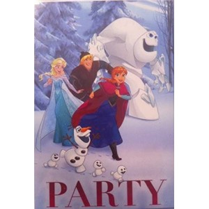LA REINE DES NEIGES : Cartes d'invitations anniversaire party Disney - 5 cartes + 5 enveloppes anniversaire