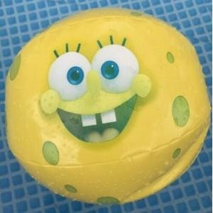 Ballon de plage Bob l'éponge 30cm gonflable jaune - NEUF