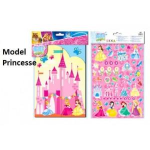 PRINCESSES Disney : Scène A Décorer Soi-même - NEUF - Stickers/Créatif/Activité