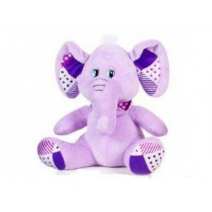 Peluche doudou Elephant 18cm 0m+ (violet)